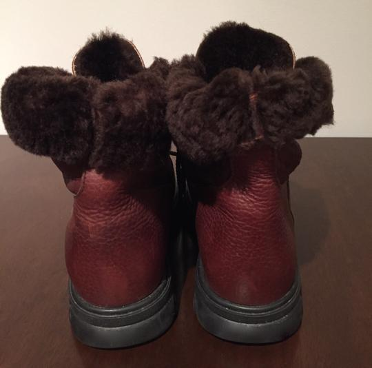 Blondo Leather Winter Snow Leather Snow Brown Boots Image 3