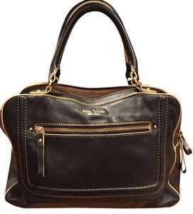 Kate Spade Leather Gold Hardware Satchel in Black