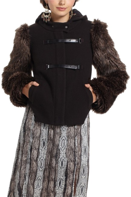 Item - Black and Brown Coat Size 0 (XS)