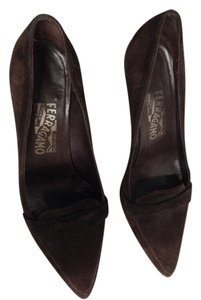 Salvatore Ferragamo Deep Brown Pumps