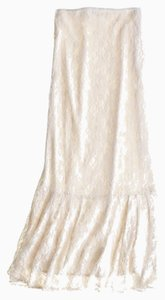 Calypso St. Barth Boho Lace Maxi Maxi Skirt Cream