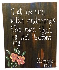 Let us run with endurance - Bible verse