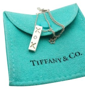 Tiffany & Co. Tiffany & Co. Paloma Picasso Diamond XOX Sterling Silver Pendant Necklace