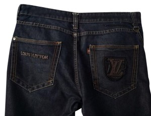 Louis Vuitton France W36 L30 Relaxed Fit Jeans-Dark Rinse
