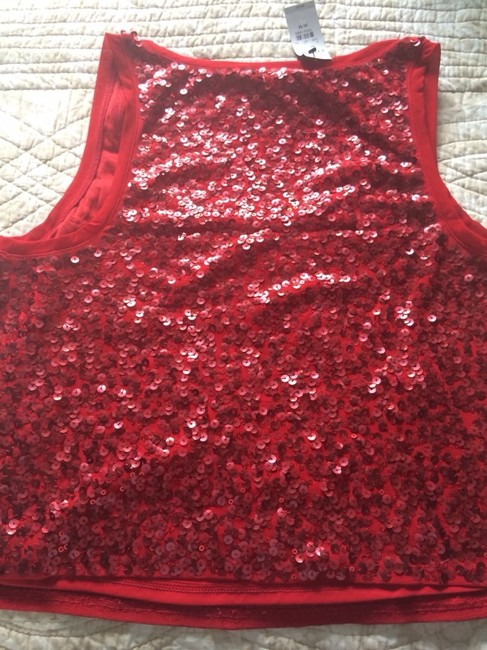 Express Sequin Tank Top Mars Red