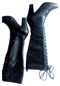 The cool people European Black Leather Boots