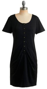 BB Dakota short dress Black Bb Mod Modcloth Cool Pleated Button on Tradesy