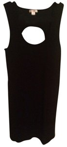 Target short dress Black Bodycon Cotton Comfortable Night Striped Ribbed Open Cut Out on Tradesy