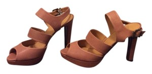 J.Crew Leather Tan Platforms