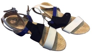 Black Royal Blue White Multi Sandals