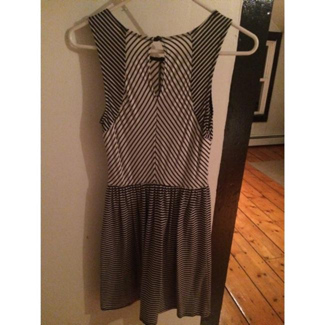 Marshalls short dress Black, white Striped And Cotton Comfortable Mod Office Work on Tradesy Image 1