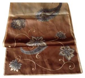 Anne Klein New Anne Klein paisley scarf brown beige gold