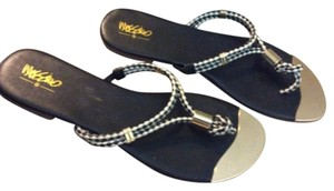 Mossimo Supply Co. Black White Sandals