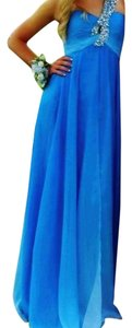 Night Moves Prom Collection Beaded Ombre One Shoulder Chiffon Flowy Dress