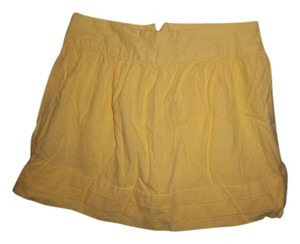 Forever 21 Mini Ruffle Mini Skirt yellow