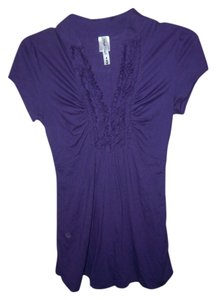 Speechless Short Sleeve Top purple