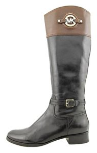Michael Kors Leather Black and Brown Boots