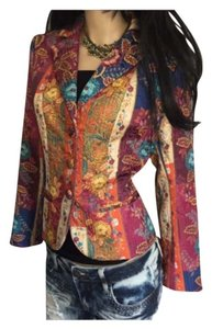Bigio Multi Pink Orange Yellow Blue Blazer
