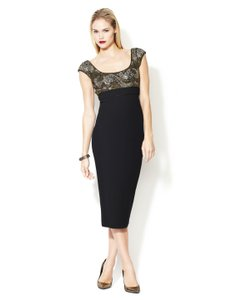 L'Wren Scott Black Embellished Dress Dress
