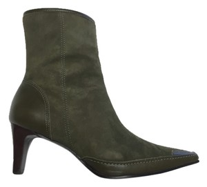 Audrey Brooke Suede Moss Green Boots