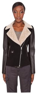 Mackage Wool Leather Shearling Pea Coat