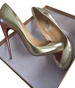 Christian Louboutin Designer Gold Pumps