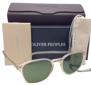 Oliver Peoples New OLIVER PEOPLES Sunglasses FAIRMONT SUN OV 5219-S 1094/52 Buff Frame w/ Green Lenses