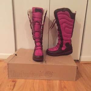Timberland Crystal Pink & Brown Boots