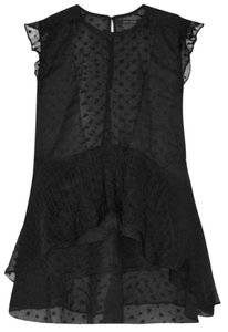Isabel Marant Vatelle Silk Top Blac