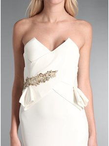 Marchesa Notte Strapless Gown With Beaded Waist Wedding Dress