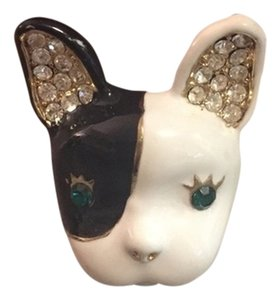 Betsey Johnson Betsey Johnson French Bulldog Ring Size 6