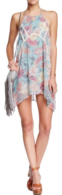 Item - Blue Above Knee Short Casual Dress Size 4 (S)