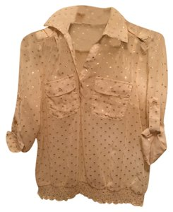 Zoompy Shimmer Sparkle Top Cream and Gold