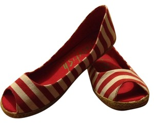 Blowfish Malibu Espadrille Stripes Summery Red white Flats e62d0c678ee