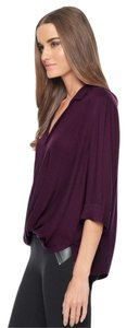 Ella Moss Surplice Stella Surplice Cross Front Top Wine