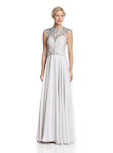 Lasting Moments Silver New With Tags Lasting Moment Beaded Gown Dress