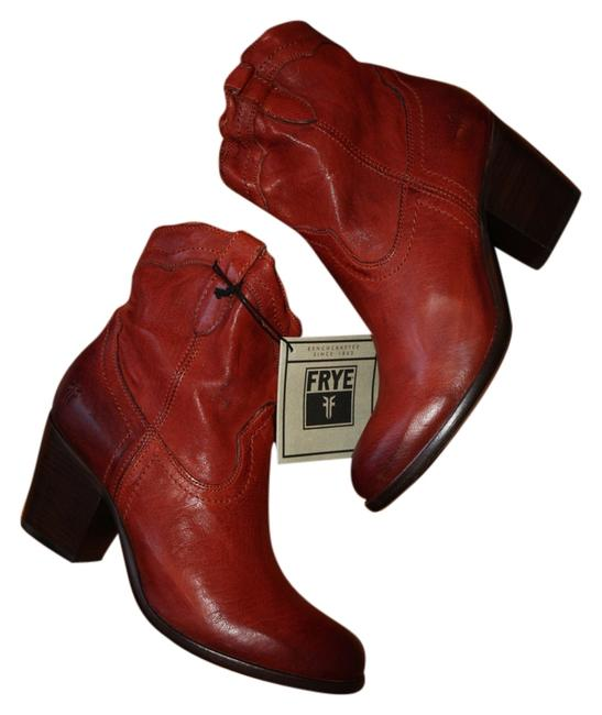 Item - Burnt Red New Tabitha Leather Short Pull-on Boots/Booties Size US 10 Regular (M, B)