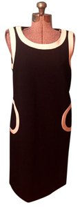 Tory Burch Wool Blend Lined Sleeveless Half Circle Pockets Dress