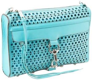 Rebecca Minkoff Leather Turquoise Clutch
