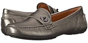 Coach Brand New New New In Box Loafer Ladies Metallic Flash 9.5 Gunmetal Grey Flats