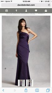 Vera Wang Midnight One Shoulder Satin Dress With Asymmetrical Skirt Style Vw360013 Dress