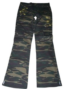 Old Skool Urban Wear Size 5-6 Juniors Flare Pants CAMOUFLAGE