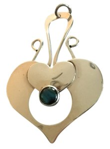 Other Sterling Silver Heart Pendant with Paua Shell