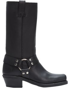 Frye Harness 12r Moto Motorcycle Rugged Black Leather Boots