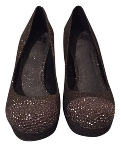 Gianni Bini Brown glitter and studd Platforms