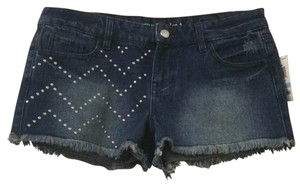 Material Girl Cut Off Shorts Blue