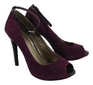 BCBGeneration Patent Leather Ankle Strap purple Pumps