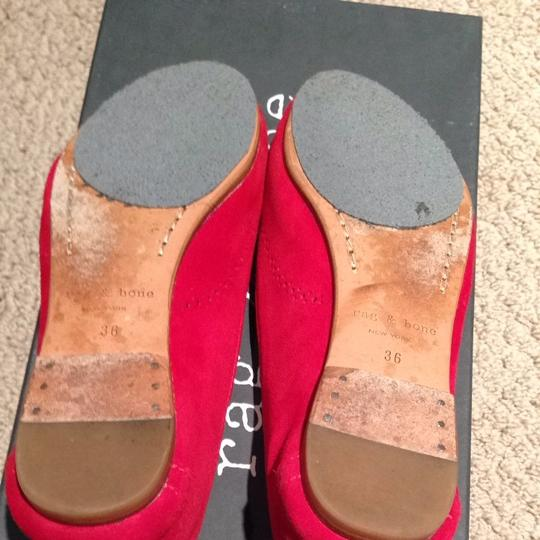 Rag & Bone Rag&bone Ballet Perforated Leather Red Suede Flats