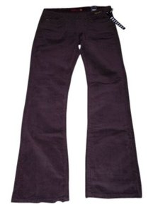 Old Skool Urban Wear 11-12 Juniors Dark Burgundy Corduroys Flare Pants Wine