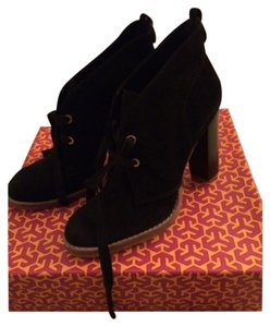 Tory Burch Suede Heels Blac Boots